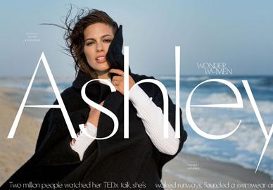 大码超模Ashley Graham登封面有着丰腴身材